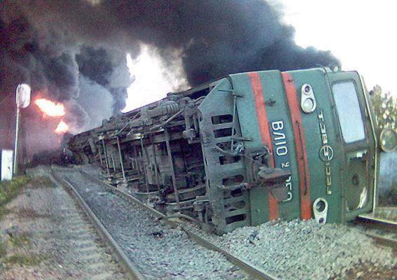 Аварии на железнодорожном транспорте в России