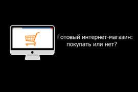 Готовый интернет-магазин: покупать или нет?