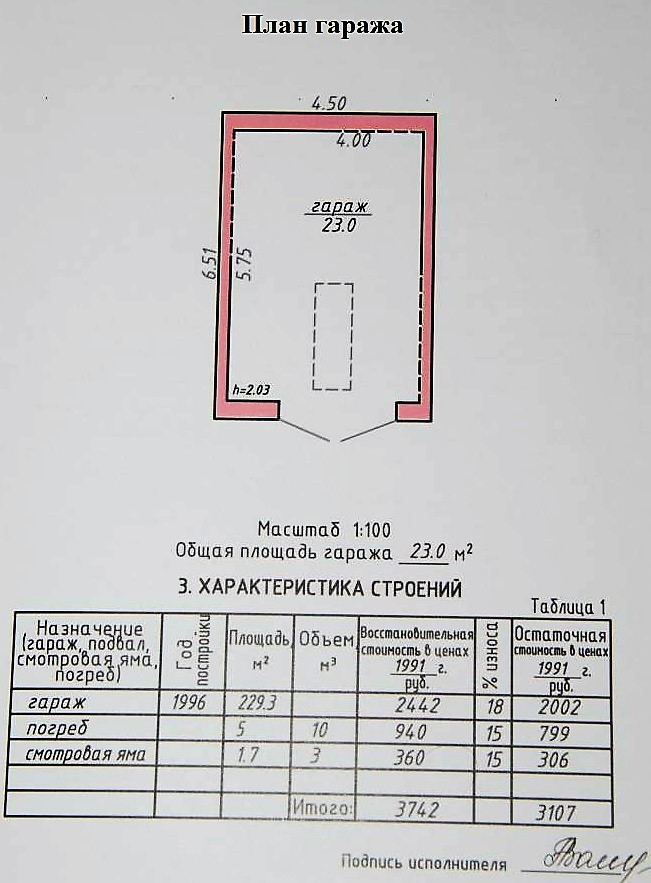 Технический план гаража