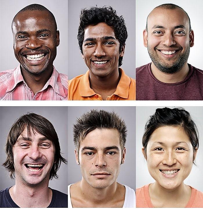 Разные лица человека картинка