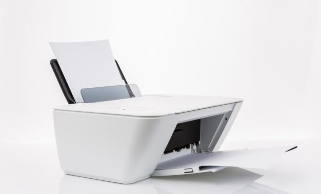Белый лист из принтера