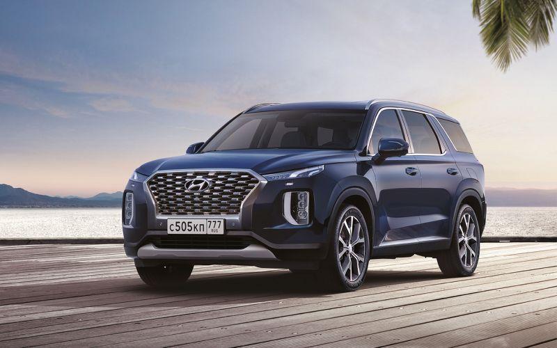 Hyundai назвал цены на флагманский кроссовер Palisade