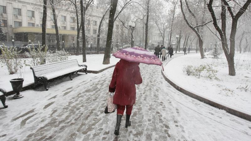 Москвичей в четверг ожидает мокрый снег с дождем