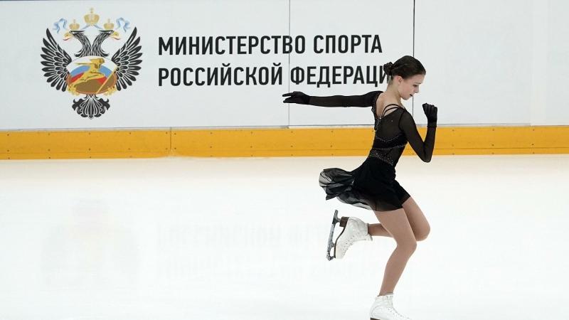 Щербакова прыгнула четверной лутц на тренировке в Челябинске
