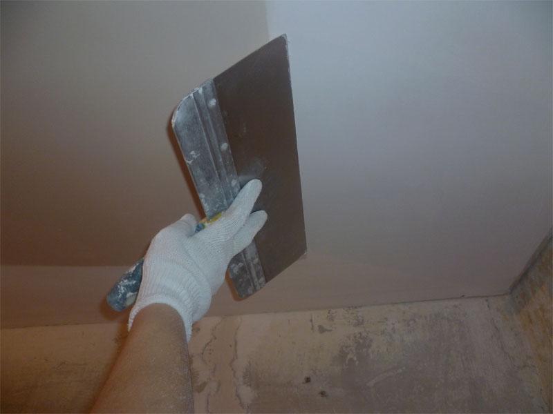 Шпаклёвка потолка из гипса